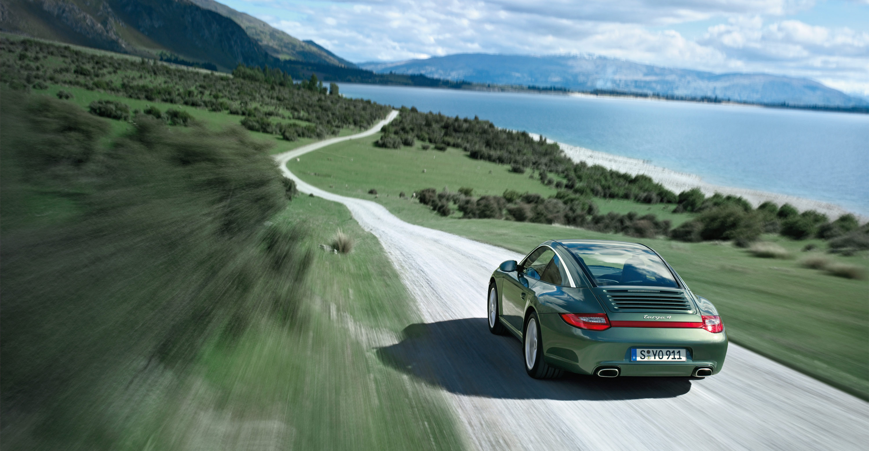 2011 Green Porsche 911 Targa 4 Wallpapers