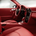 2011 Grey Porsche 911 Turbo Wallpaper Red Interior