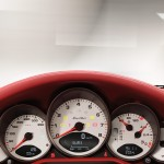2011 Grey Porsche 911 Turbo Wallpaper Red Interior Dashboard
