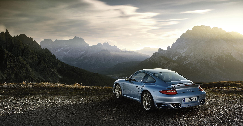 2011 Ice Blue Porsche 911 Turbo S Wallpapers