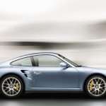 2011 Ice Blue Porsche 911 Turbo S Wallpaper Side view