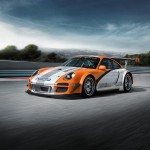 2011 Orange Porsche 911 GT3 R Hybrid Wallpaper Front angle side view