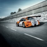 2011 Orange Porsche 911 GT3 R Hybrid Wallpaper Rear angle view