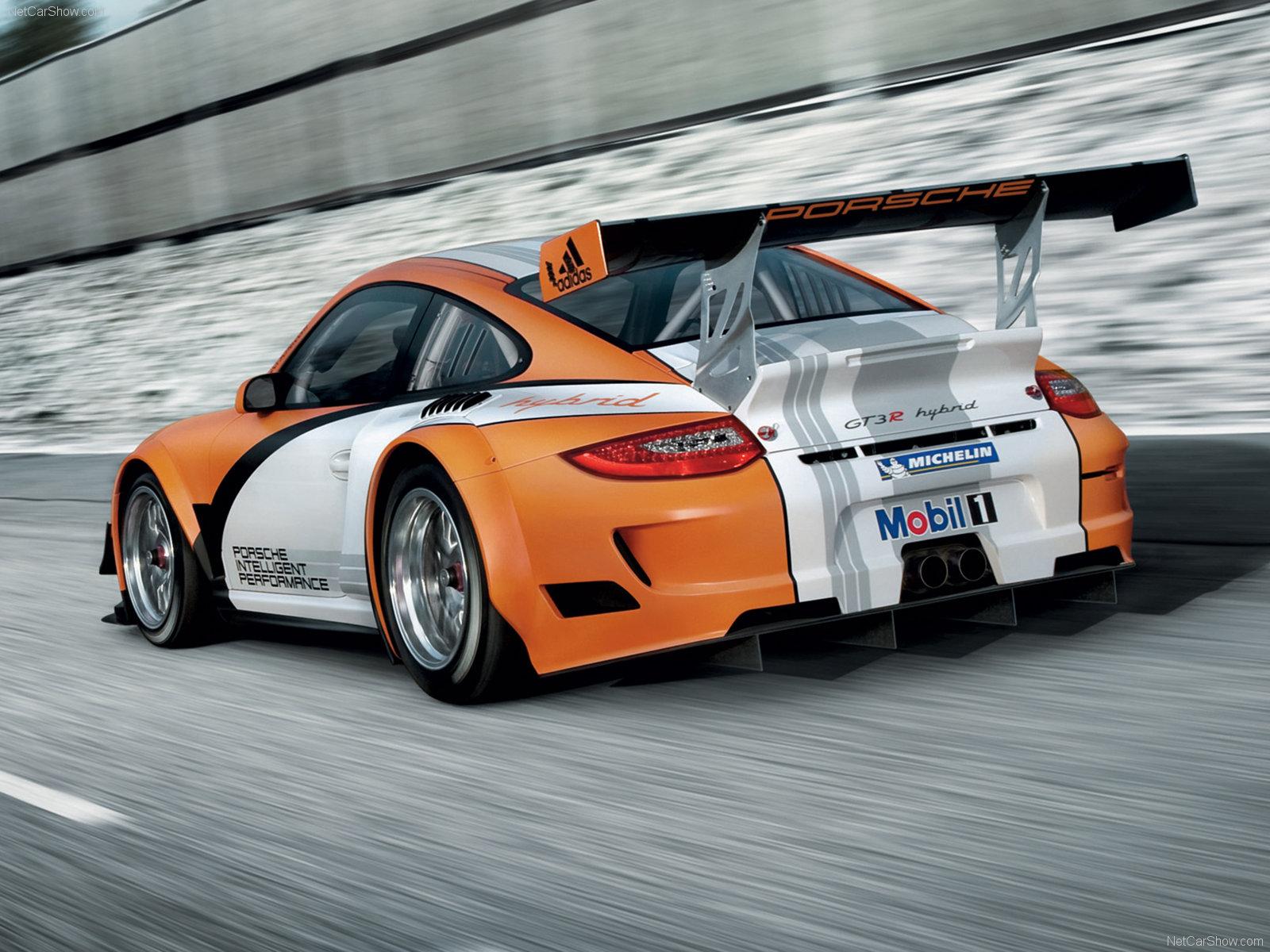 2011 Orange Porsche 911 GT3 R Hybrid wallpapers
