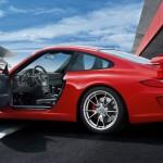 2011 Red Porsche 911 GT3 Wallpaper Side view Doors open