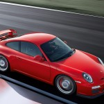 2011 Red Porsche 911 GT3 Wallpaper Side angle top view
