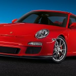 2011 Red Porsche 911 GT3 Wallpaper Front angle view