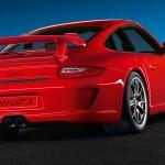 2011 Red Porsche 911 GT3 Wallpaper Rear angle view