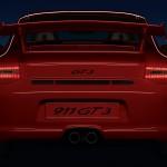 2011 Red Porsche 911 GT3 Wallpaper Rear view