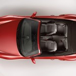 2011 Red Porsche 911 Turbo Cabriolet Wallpaper Top view