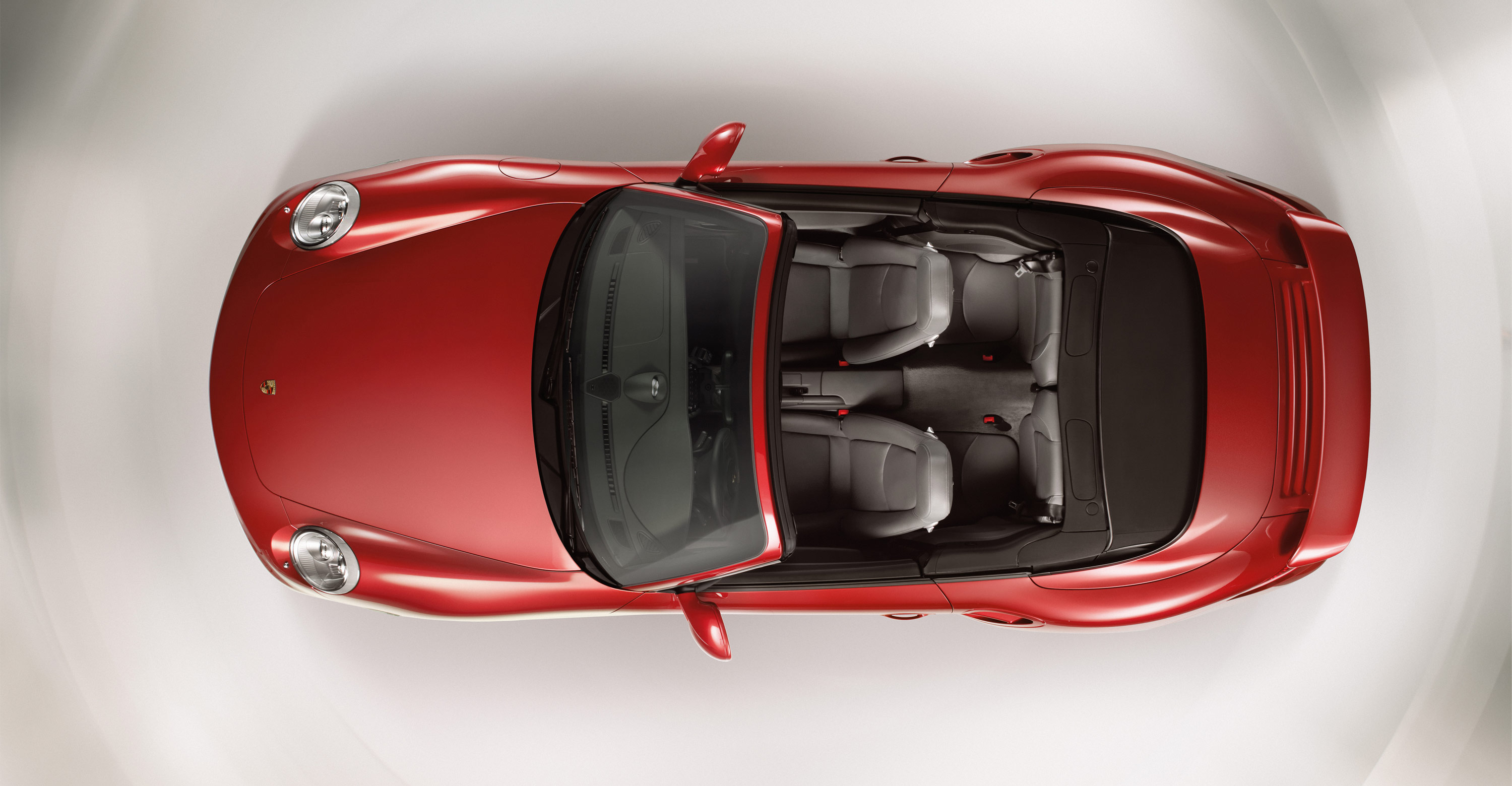 2011 Red Porsche 911 Turbo Cabriolet Wallpapers