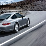 2011 Silver Porsche 911 Carrera Wallpaper Side angle view