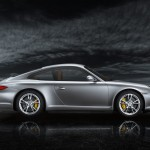 2011 Silver Porsche 911 Carrera Wallpaper Side view