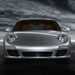 2011 Silver Porsche 911 Carrera Wallpaper Front view