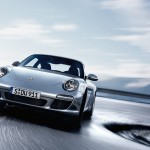2011 Silver Porsche 911 Carrera Wallpaper Front angle view