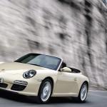 2011 White Porsche 911 Carrera Cabriolet Wallpaper Front angle side view