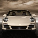 2011 White Porsche 911 Carrera Cabriolet Wallpaper Front view