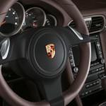2011 White Porsche 911 Carrera Cabriolet Wallpaper Interior Steering wheel