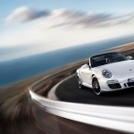 2011 White Porsche 911 Carrera GTS Cabriolet Wallpaper Front angle view