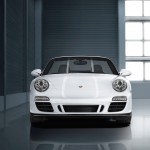 2011 White Porsche 911 Carrera GTS Cabriolet Wallpaper Front view