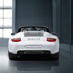 2011 White Porsche 911 Carrera GTS Cabriolet Wallpaper Rear view