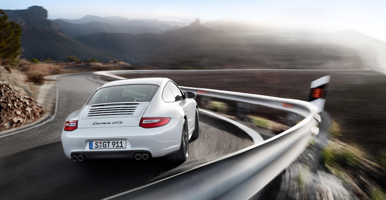 White Porsche 911 Carrera GTS wallpapers