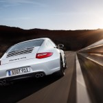 2011 White Porsche 911 Carrera GTS Wallpaper Rear view