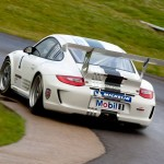 2011 White Porsche 911 GT3 Cup Wallpaper Rear angle view