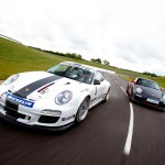 2011 White Porsche 911 GT3 Cup Wallpaper Front angle view
