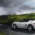 2011 Carrara White Porsche Boxster Spyder wallpaper Side angle view