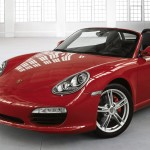 2011 Guards Red Porsche Boxster S wallpaper Front angle view