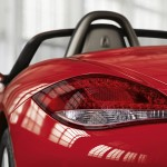 2011 Guards Red Porsche Boxster S wallpaper Rear view corner