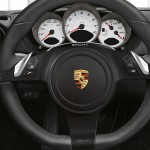 2011 Guards Red Porsche Boxster S wallpaper Interior Steering wheel