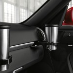 2011 Guards Red Porsche Boxster S wallpaper Interior Cup holders