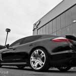 2011 Black Porsche Panamera RS600 Project Kahn Rear angle view
