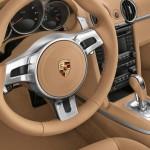 2011 Porsche Racing Green Metallic Boxster Interior Steering wheel