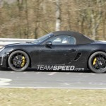 2012 Porsche 981 Boxster Spy shots Side view
