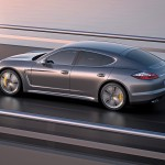 2012 Porsche Panamera Turbo S Wallaper Side angle rear view