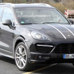 2012 Porsche Cayenne Turbo S Spy shots at Nurburgring circuit Front angle view