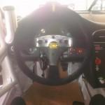 Bellet Racing 2011 white Porsche 911 GT3 Cup Car Interior