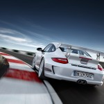 Limited White 2011 Porsche 911 GT3 RS 4.0 wallpaper Rear view