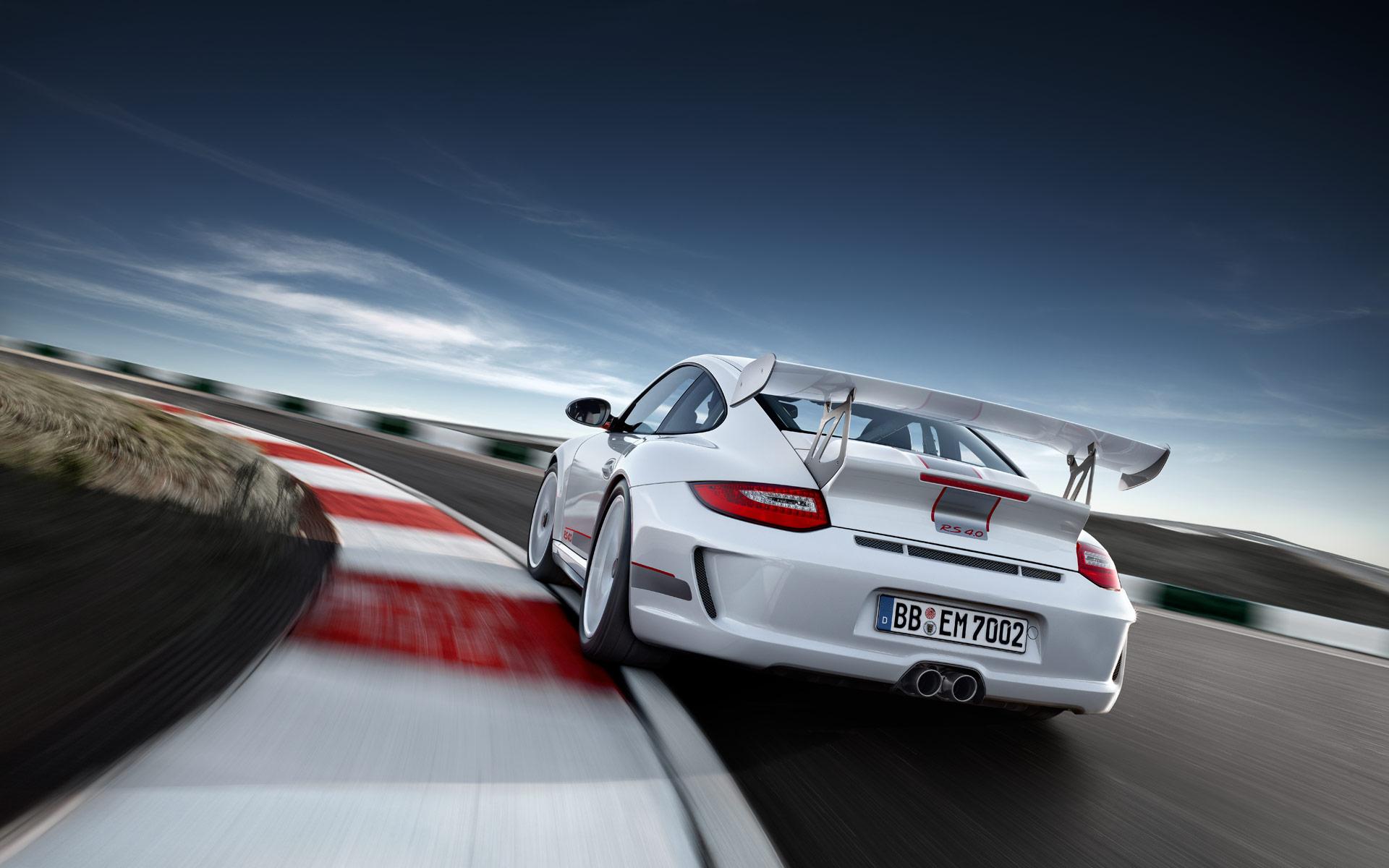 Limited White 2011 Porsche 911 GT3 RS 4 0 wallpaper Rear view
