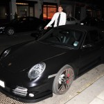 Nicklas Bendtner's Black Porsche 911 Turbo Front angle
