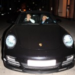 Nicklas Bendtner's Black Porsche 911 Turbo Front view