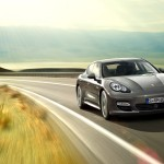 Topaz brown Metallic 2011 Porsche Panamera Turbo S wallpaper Front angle view
