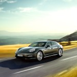 Topaz brown Metallic 2011 Porsche Panamera Turbo S wallpaper Side angle view