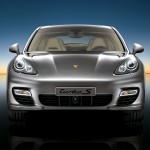 Topaz brown Metallic 2011 Porsche Panamera Turbo S wallpaper Front view
