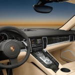 Topaz brown Metallic 2011 Porsche Panamera Turbo S Interior