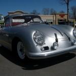 Vintage Porsche 356 A 1600 Front angle view