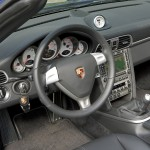 2006 Yellow Porsche 911 Carrera 4 Cabriolet Wallpaper Interior Steering wheel